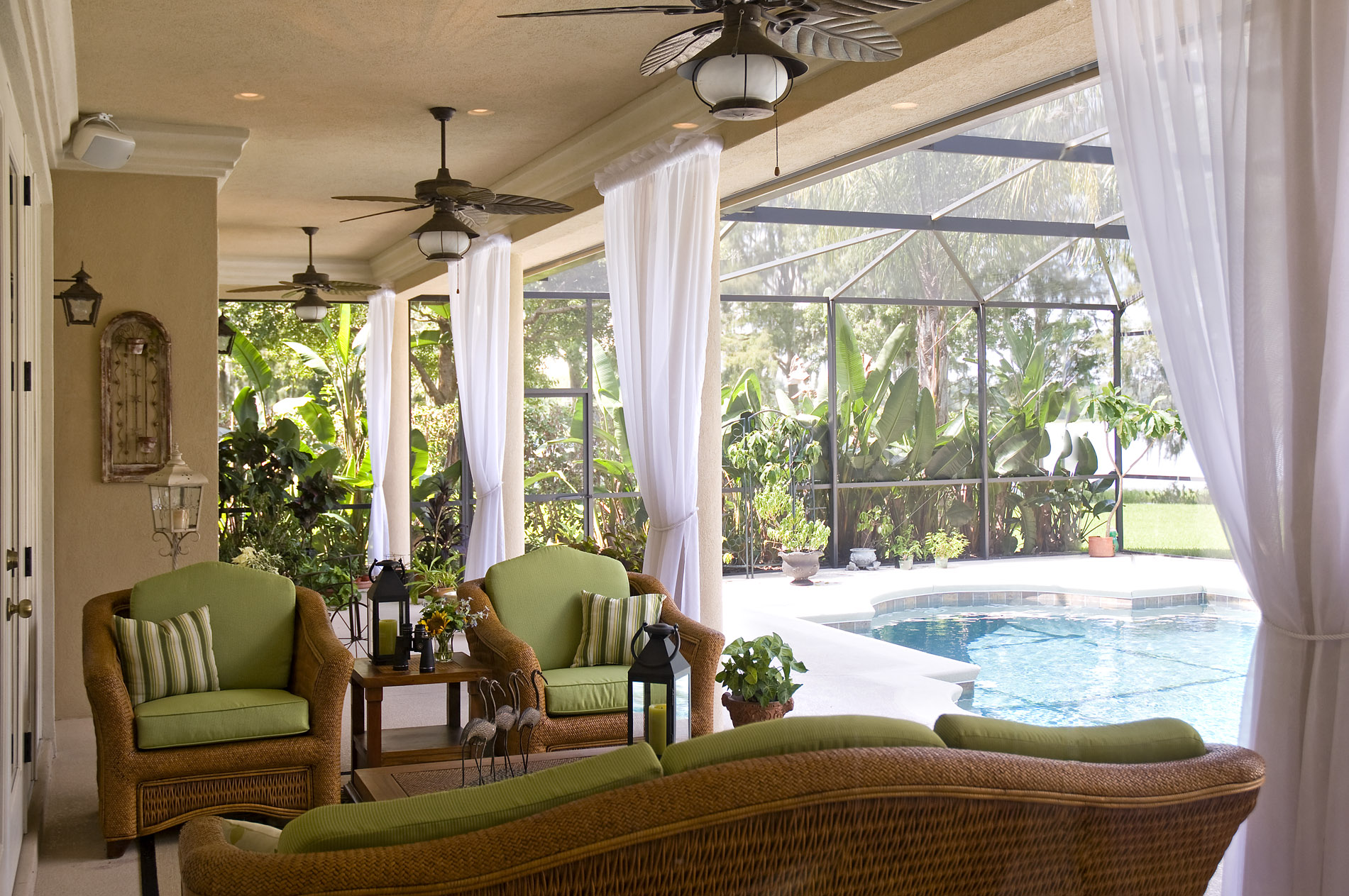 comfy brown wooden sunroom furniture paired. Exellent Paired Outdoor Lighting Is Particular Important If You Plan On Spending Time  Outside At Night Though To Comfy Brown Wooden Sunroom Furniture Paired O
