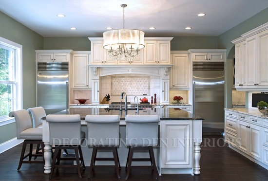 Decorating tips to add interest this spring catherine for Chandelier over kitchen island